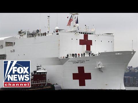 Navy Hospital Ship 'Comfort' Begins Accepting Patients