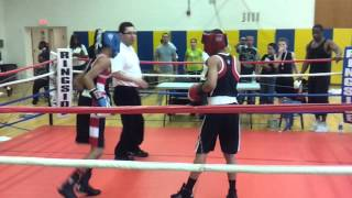 My son first boxing match .He won :)