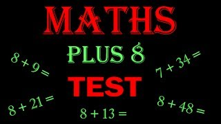 maths online - math for kids Plus 8 TEST