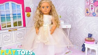 AG Baby Doll Beauty Spa Wedding Day Dress Toys! Vestido de casamento Hochzeitskleid فستان باربي