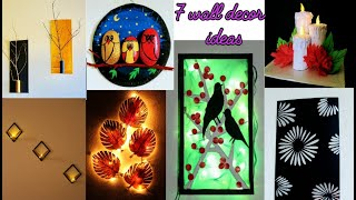 7 wall decor ideas / craft ideas / art and craft / decoration / paper plate craft / amazing pixies