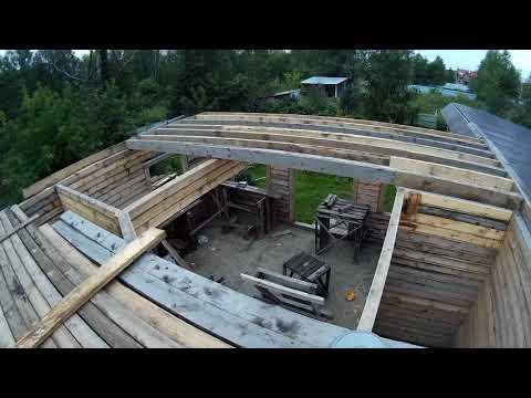Дом из бруса | Строительный марафон день 35-38 лаги перекрытия, пиломатериал спустя год