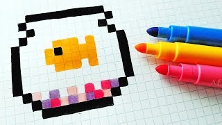 Handmade Pixel Art - How To Draw a Fish #pixelart