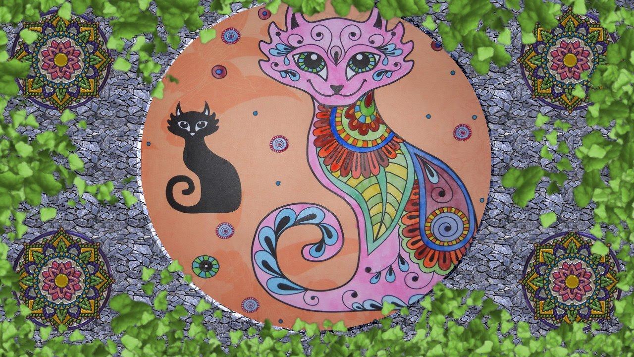 Coloreando Mandala De Gato, Meditación
