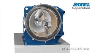 ANDRITZ Krauss-Maffei HZ Peeler centrifuge operation principle