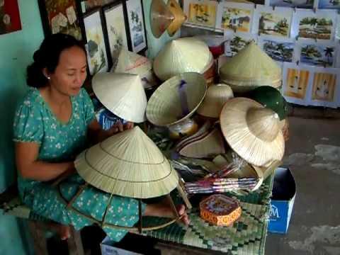 Straw Hat weaving near Myson, Vietnam