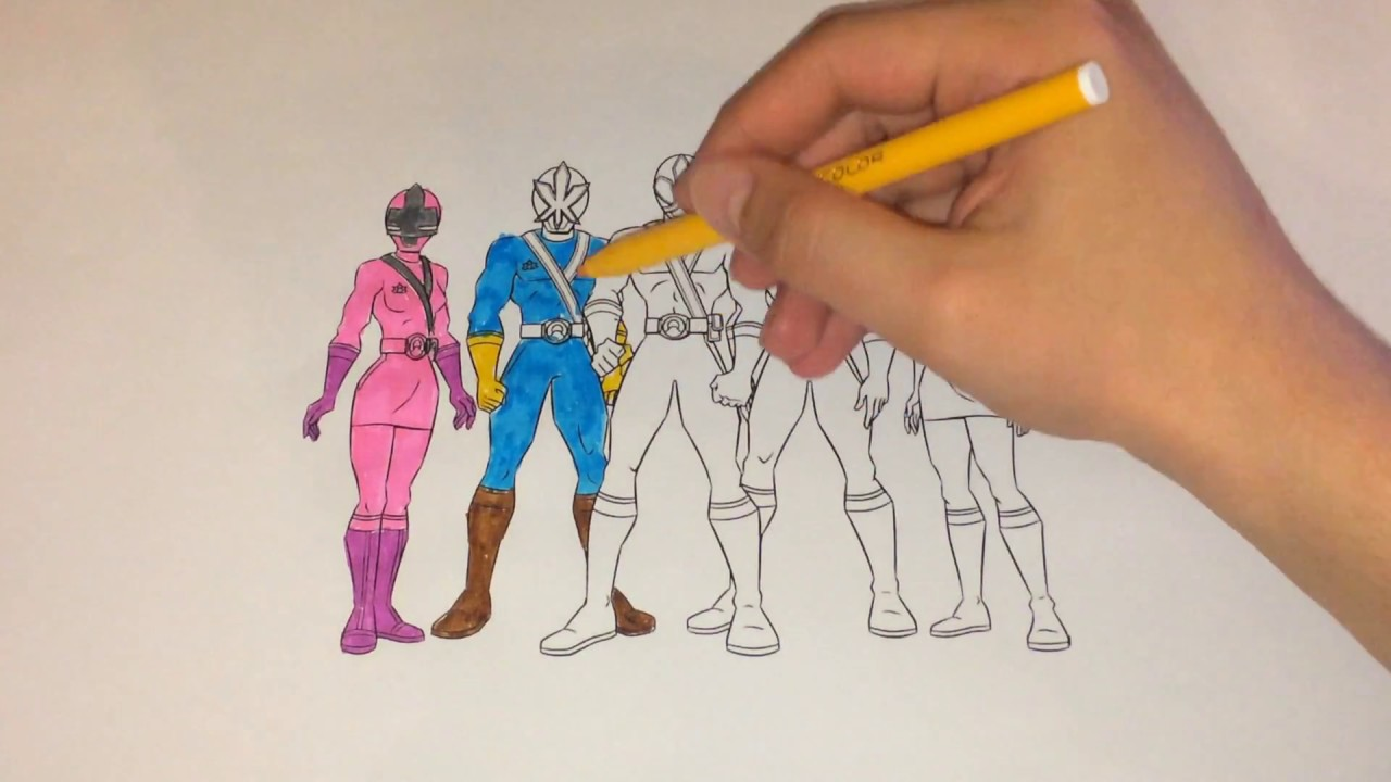 Coloring Power Rangers For Children Coloring Page Power Rangers