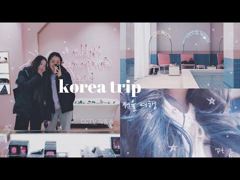 KOREA VLOG PART 1 (hair dying, stylenanda, namsan tower) | PEACHINNI