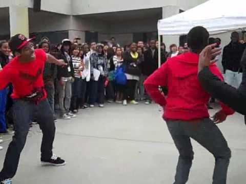 Krump  dancing  at  lunch enjoy.
