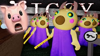 I BEAT 10 BOTS SOLO In Roblox Piggy Chapter 5.. [School]