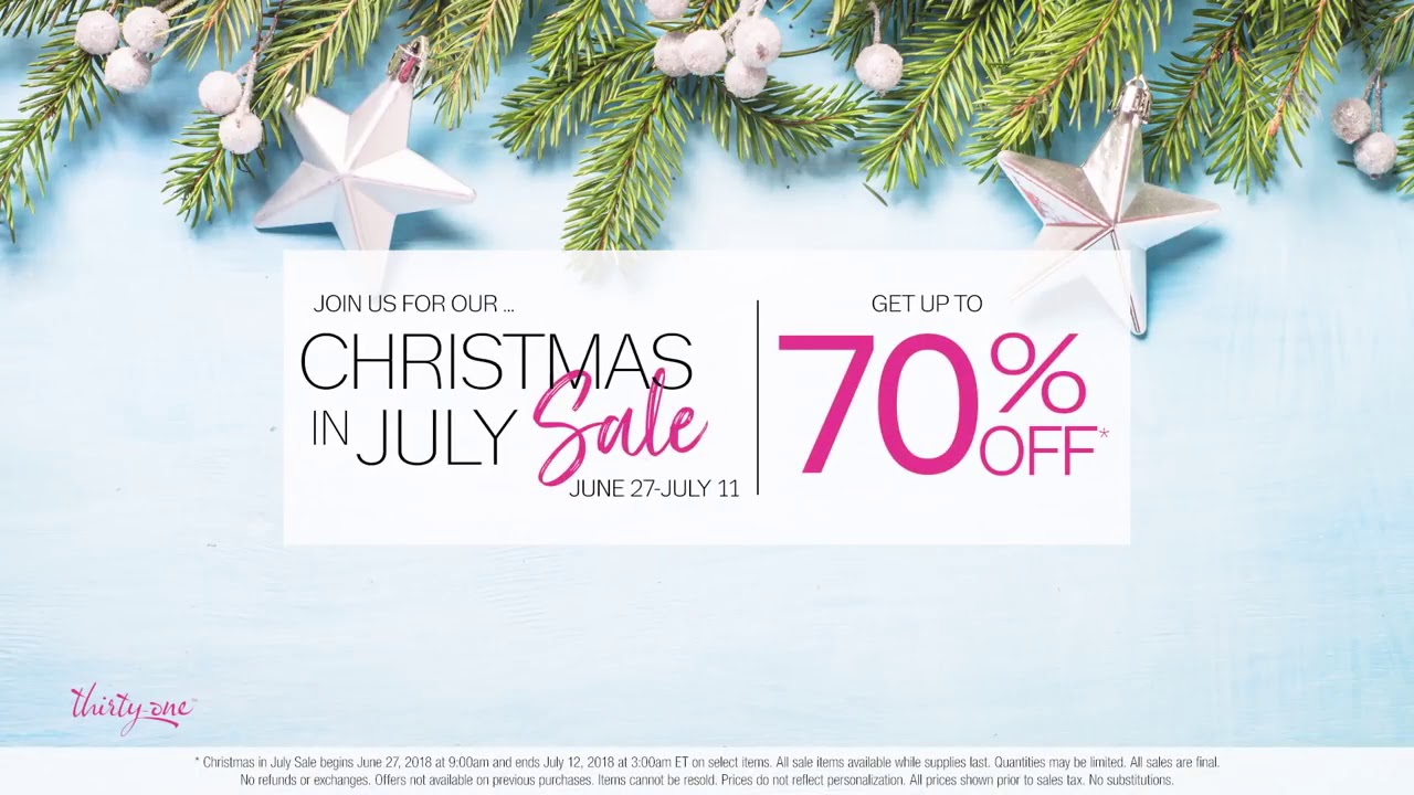 Join us for the <b>Christmas</b> in <b>July</b> Sale! – <b>Thirty One Gifts</b> - YouTube