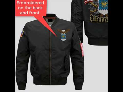UNITED STATES AIR FORCE SINCE 1947 DEFENDING FREEDOM EMBROIDERED JACKET