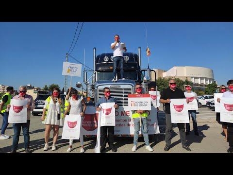 La hostelería se vuelca en una protesta en Murcia contra las restricciones