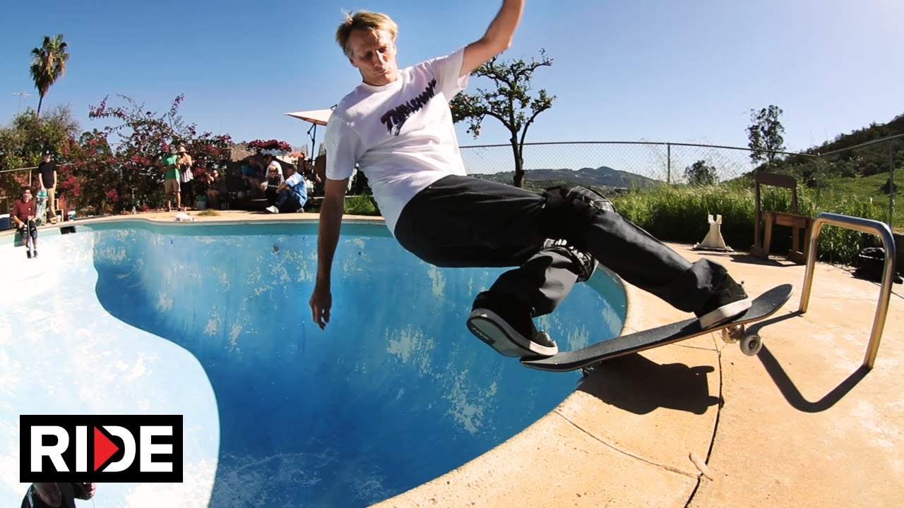 Tony Hawk And Lance Mountain Backyard Pool Session Youtube