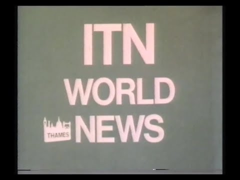 Thames Overnight Continuity & Adverts plus ITN World News - 1987