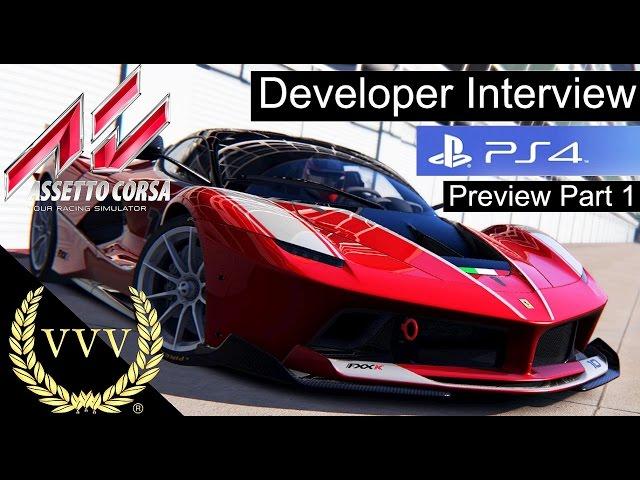 Assetto Corsa PS4 Preview Part 1 - Marco Massarutto Interview