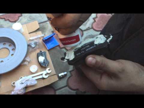 Как заменить задние тормозные диски и колодки на Passat B6