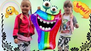 Учим цвета/Слайм/Папа пальчик/Детская песня👶Kids Song/Slime/Nursery Rhymes\\Finger Family