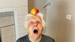93 Year Old Grandma Tries The Most Terrifying Trick Shot | Ross Smith