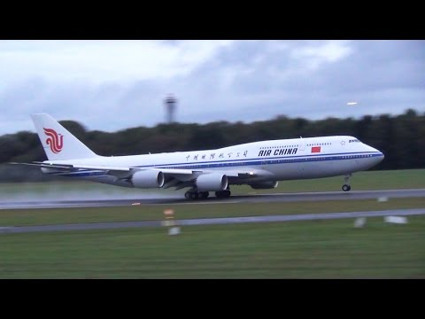 ✈ VIP Air China Boeing 747-8 | Takeoff At Hamburg Airport