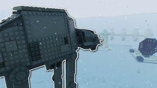 STAR WARS AT-AT BATTLE! - Brick Rigs Multiplayer Gameplay - Lego Star Wars battle