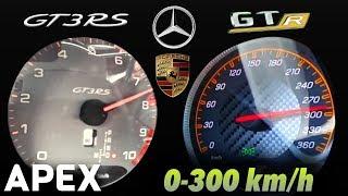 2018 Mercedes AMG GT R vs. Porsche 911 GT3 RS - Acceleration Sound ...