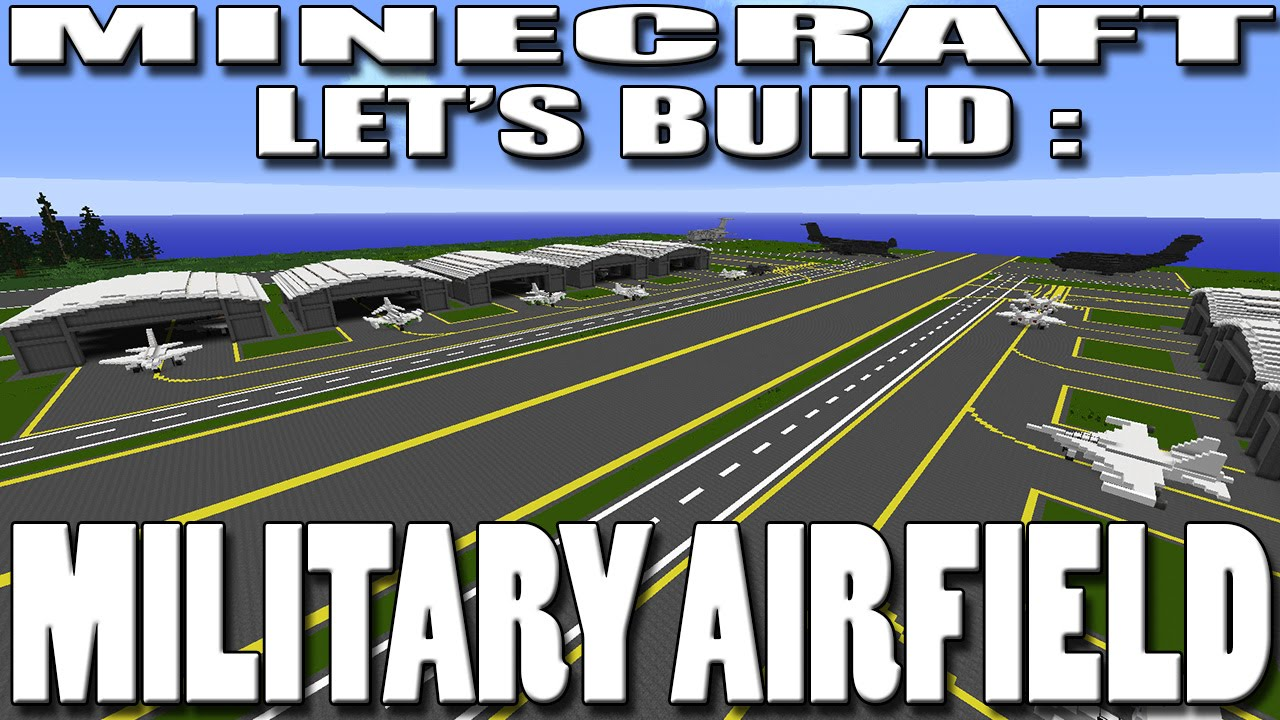 Minecraft Lets Build Military Airfield Planning EP1