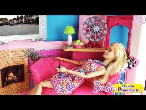 Мультфильм с куклами Барби. Подарок от Кена Дом мечты. Видео для детей 28