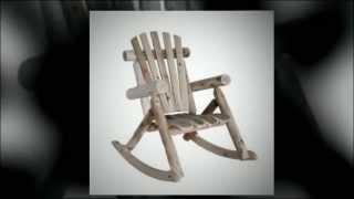 Natural Cedar Log Rocking Chair