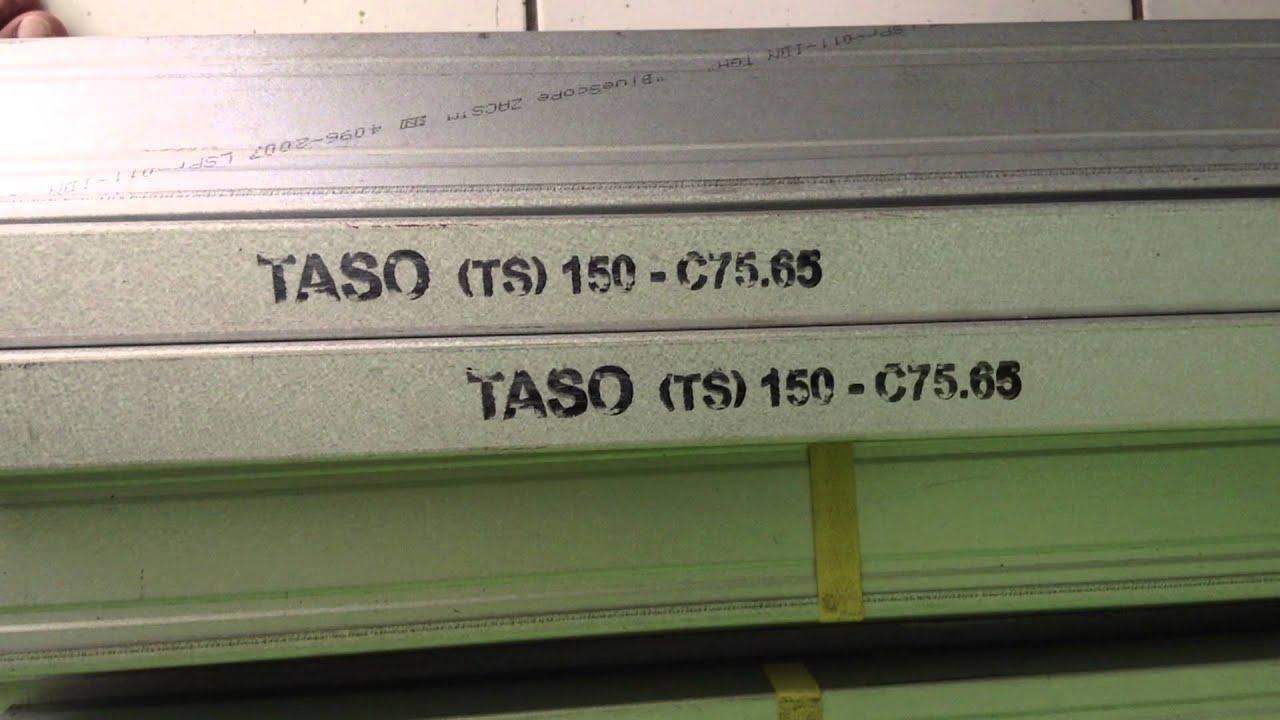 agen baja ringan taso di jambi c 75 65 zincalume tatalogam youtube