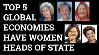Top 5 global economies have women heads of state