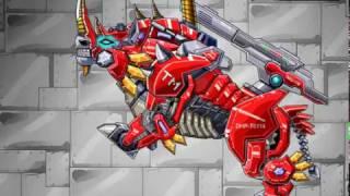 Мультик игра Роботы динозавры: Огненный носорог (Robot Fire Rhino Power Up)