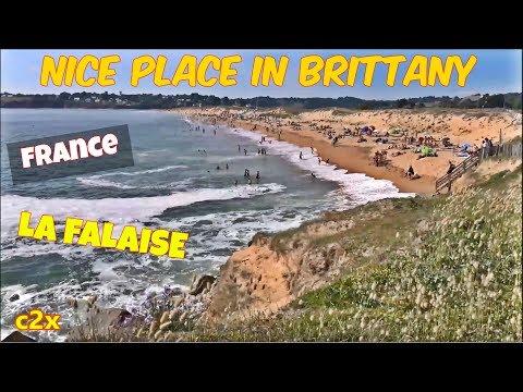 Plage ; la Falaise ; Nice Place ; Pavillon Bleu ; Dune ; Guidel-Plage ; Bretagne ; France