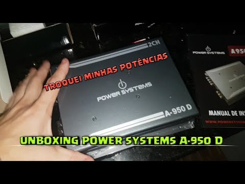 MUDANÇA DE MÓDULOS - Unboxing A-950 D Power Systems