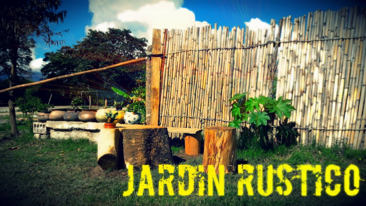 Como decorar un jardin rustico youtube Decoracion de jardines pequenos rusticos