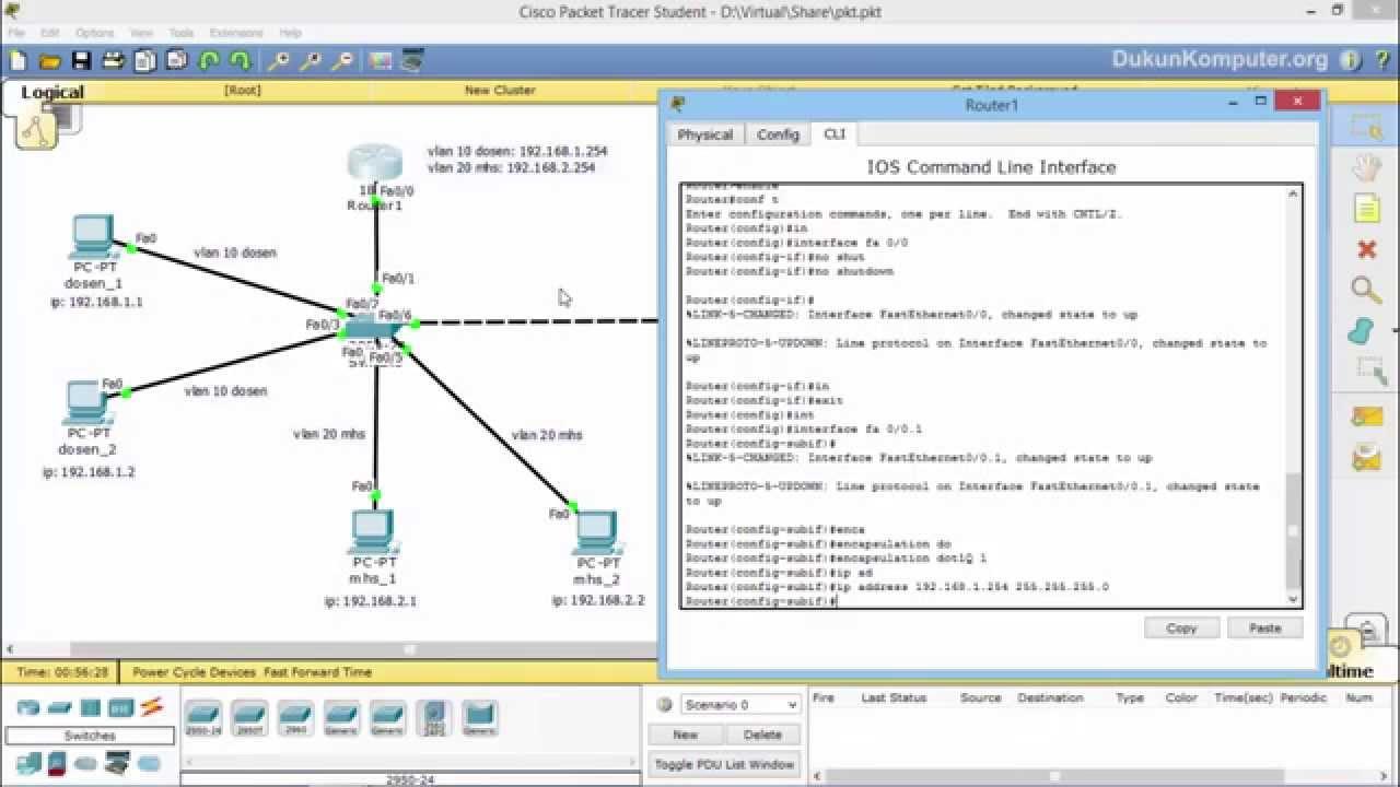 Tutorial Cara Setting atau Konfigurasi vLan Switch dan ...