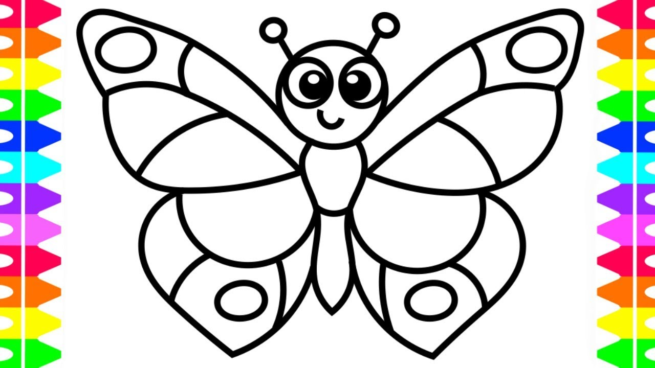LEARN HOW TO DRAW A BUTTERFLY EASY COLORING PAGES FOR