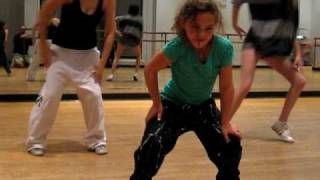 9 year old Amazing Dance video of Emily a very talented young girl hip hop dancer at practice 2010
