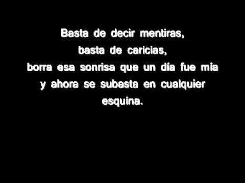 Sergio Contreras - Basta (LETRA).