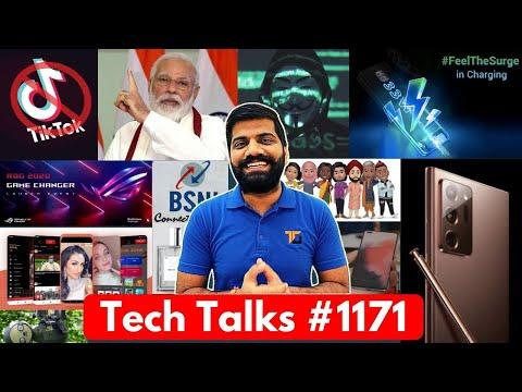Tech Talks #1171 - TikTok 450000000000₹ Loss, Poco M2 Pro 33W, ROG 3 22nd July, Note 20 Ultra Leaks