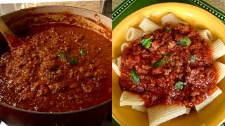 Traditional Italian Meat Sauce ( Best Using San Marzano Tomatoes )