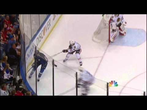 Brent Seabrook charging major on David Backes Chicago Blackhawks vs St. Louis Blues 4/19/14 NHL