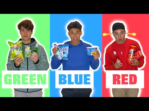 Eating Only ONE Colored Food for 24 Hours!!!