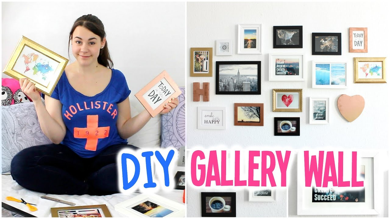 diy gallery wall easy inexpensive wall art hannacreative