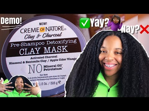 trying-creme-of-nature-clay-and-charcoal-pre-shampoo-detoxifying-clay-mask-on-my-3c/4a-natural-hair!