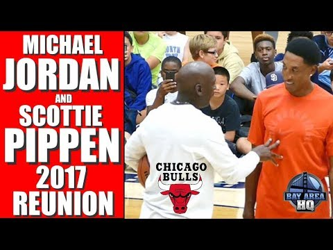 MICHAEL JORDAN & SCOTTIE PIPPEN 2017 REUNION ! Michael Jordan Flight School Chicago Bulls Highlights