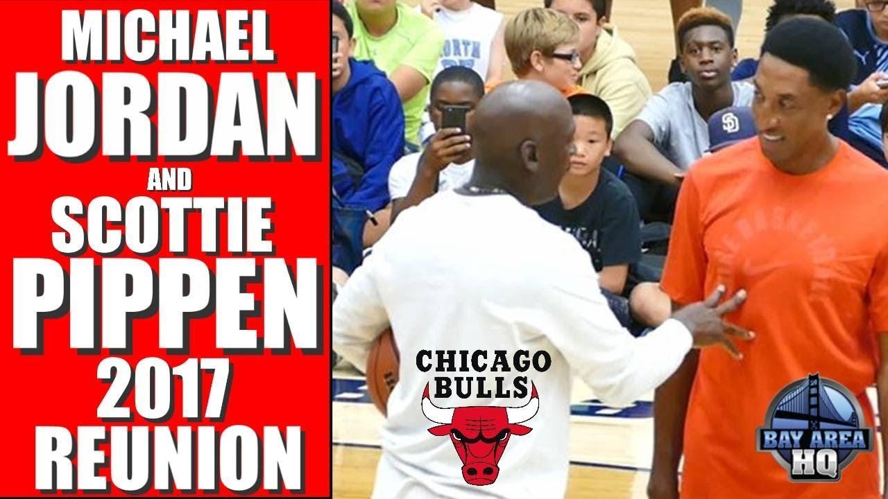 6b96aa63b6 MICHAEL JORDAN & SCOTTIE PIPPEN 2017 REUNION ! Michael Jordan Flight School  Chicago Bulls Highlights