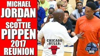 MICHAEL JORDAN & SCOTTIE PIPPEN 2017 REUNION ! Michael Jordan Flight School Chicago Bulls Highlights