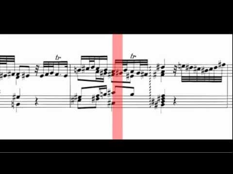 BWV 903 - Chromatic Fantasy & Fugue - (Scrolling)