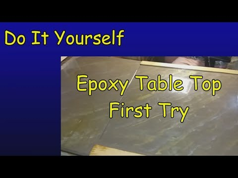 DIY - Replacing the Dinette -  part 9 -  Epoxy Table Top